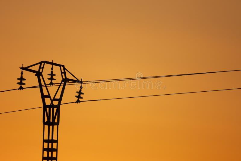 Download Electricity Pylon stock image. Image of orange, dusk - 25860673