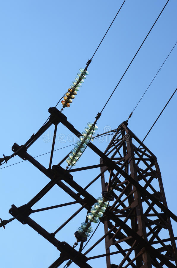 Download Electricity Pylon With Insulators And Power Lines Stock Photo - Image of distribution, industrial: 26913814