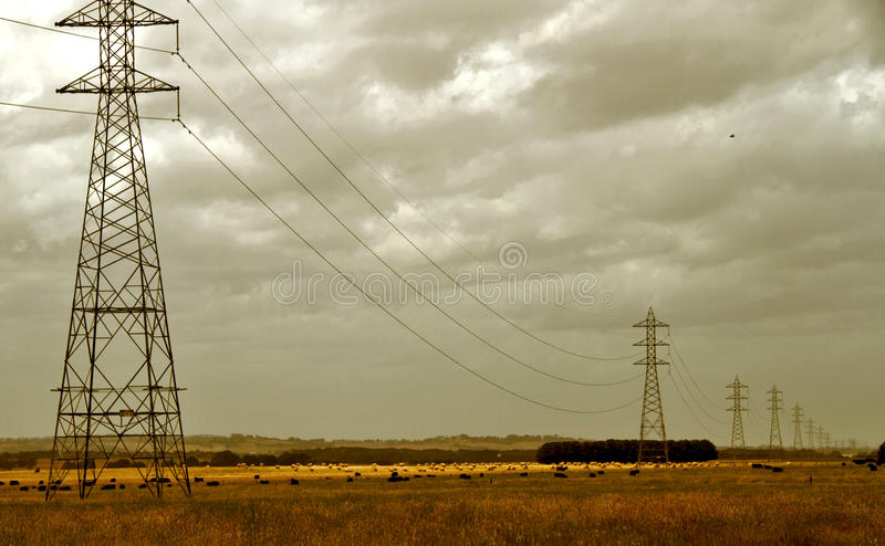 Download Electricity pylons stock photo. Image of infrastructure - 12005688