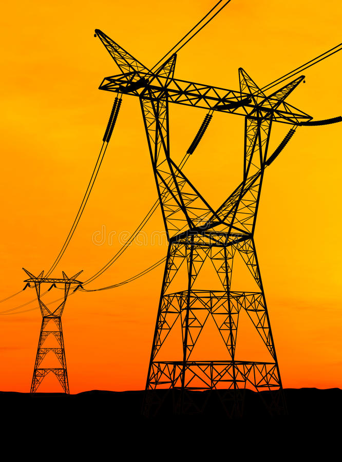 Download Electricity Pylons Royalty Free Stock Photos - Image: 14338338