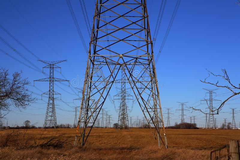 Download Electricity Pylons stock photo. Image of urban, nuclear - 1464338