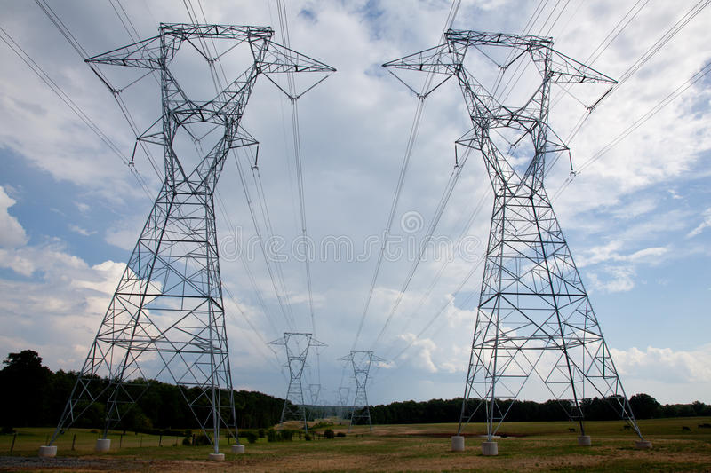 Download Electricity Pylons stock image. Image of industrial, supply - 14935999