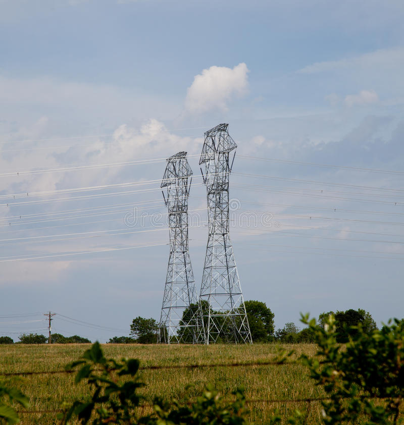 Download Electricity Pylons stock image. Image of cables, powercable - 14968081