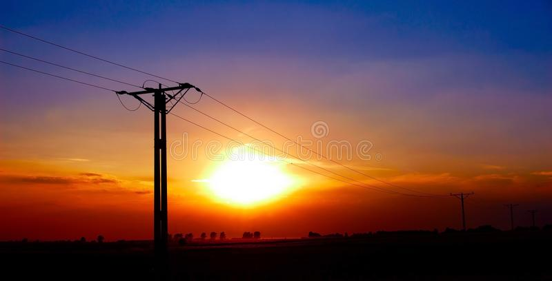 Download Electricity pylons stock photo. Image of industry, construction - 16097880