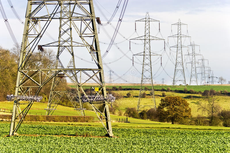 Download Electricity pylons stock photo. Image of tower, lights - 18207144