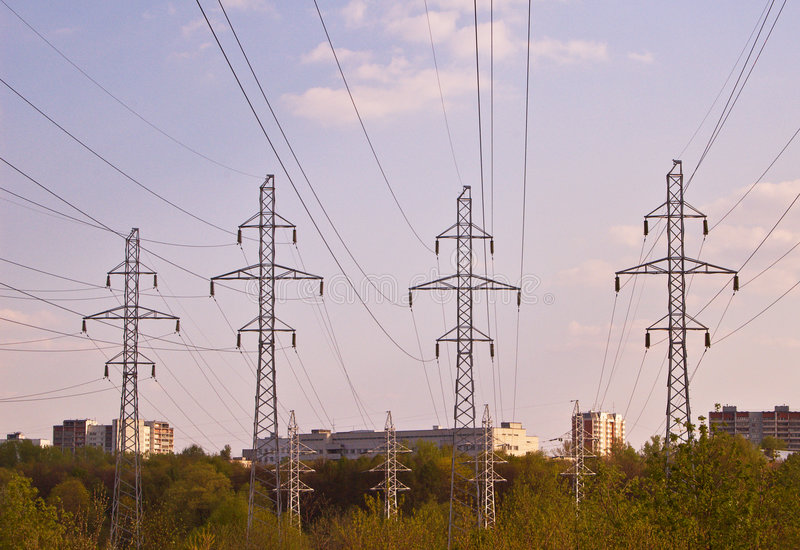 Download Electricity Pylons stock photo. Image of environmental - 5028644