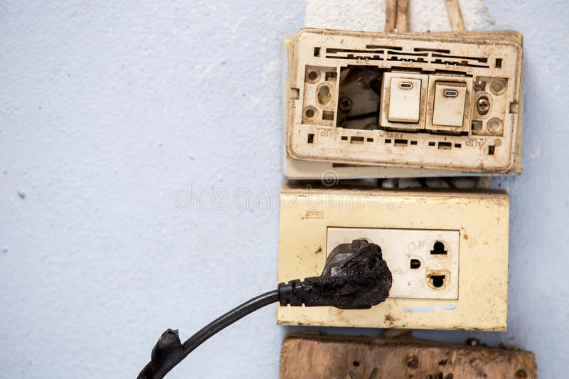 Electricity short circuit royalty free stock image