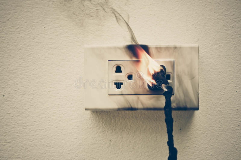 Electricity short circuit stock photography