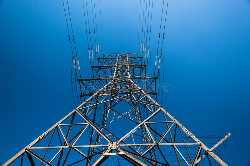 Electricity Steel Tower Details royalty free stock images