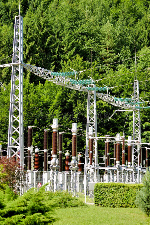 Free Electricity Supply Station Setup Royalty Free Stock Images - 10054569