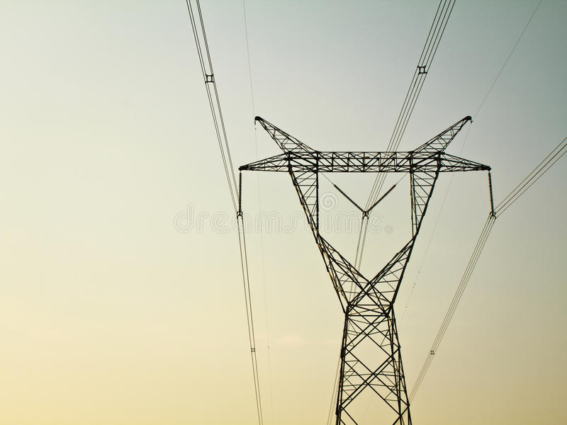 Electricity tower stock photos