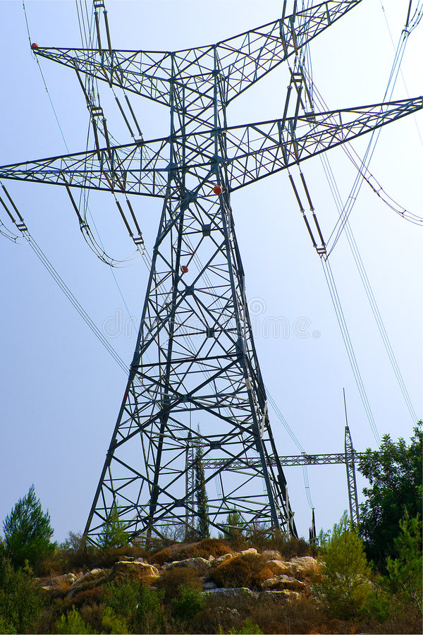 Free Electricity Tower Royalty Free Stock Image - 6298446