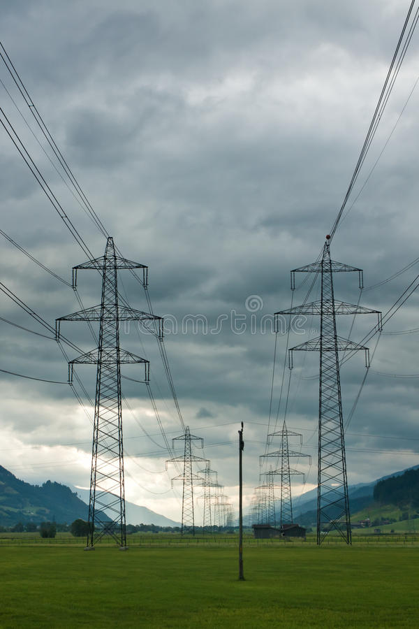 Download Electricity Towers And Cabels On Cloud Background Stock Photo - Image: 21926188