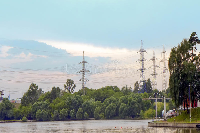 Electricity Towers stock images
