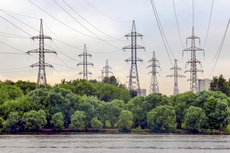 Electricity Towers royalty free stock photo