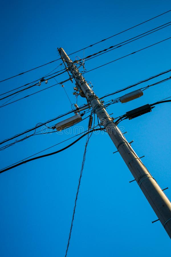 Electricity Transmission Power Tower Pole royalty free stock photos
