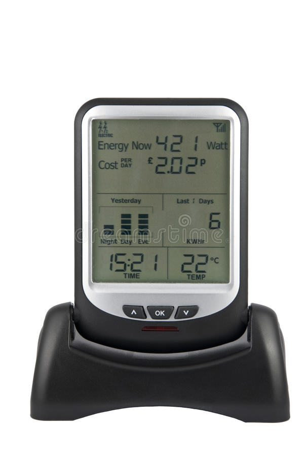 Download Electricity Usage Monitor stock image. Image of cost - 15487547