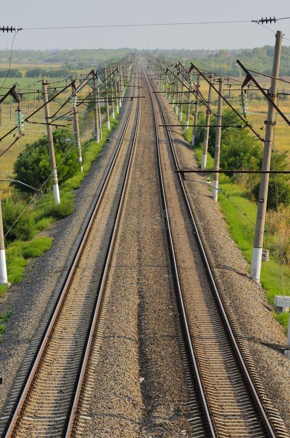 Electrified железная дорога стоковые фото