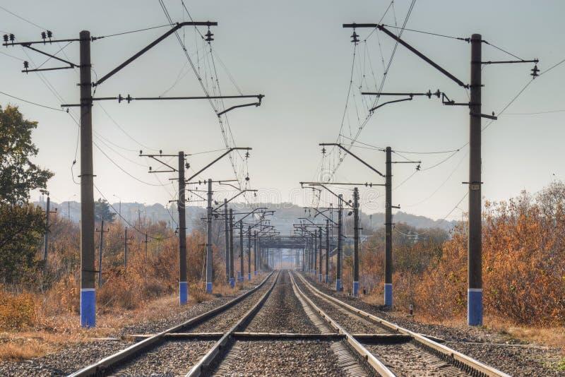 Electrified железные дороги стоковое изображение rf