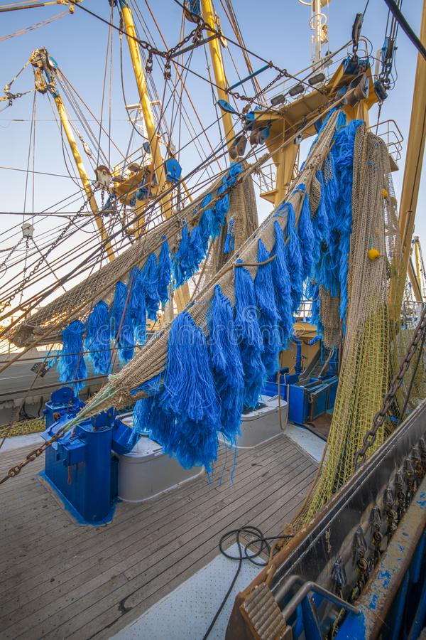 Electrified и опустошительная рыболовная сеть стоковые фото