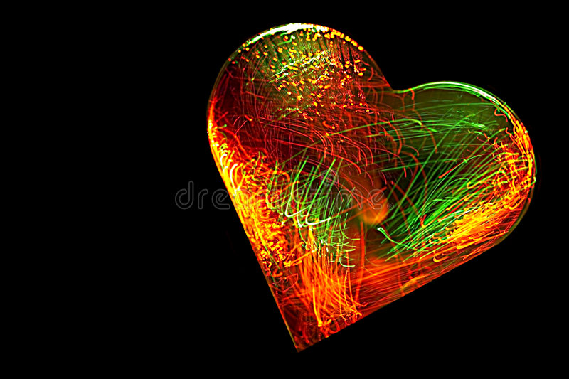 Electrified Heart royalty free illustration