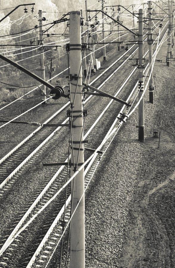 electrified railway стоковая фотография rf