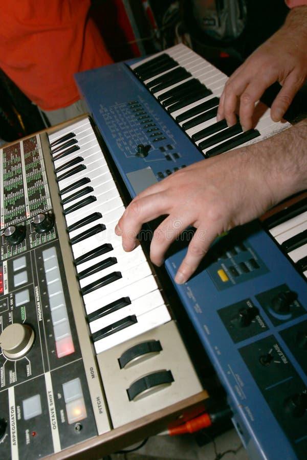 electro играть нот стоковое изображение