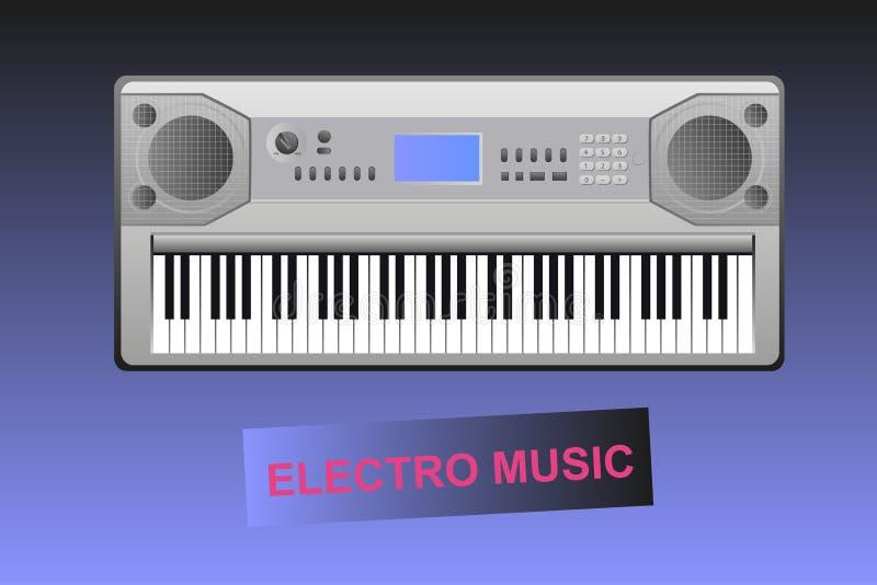 Electro музыка - электрические рояль и текст бесплатная иллюстрация