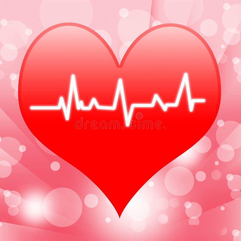 Electro на выставках сердца бить сердце или иллюстрация штока