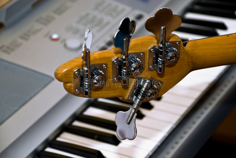 electro рояль гитары чистосердечный стоковое фото