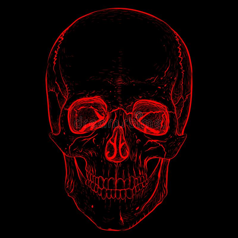 Electro череп иллюстрация вектора