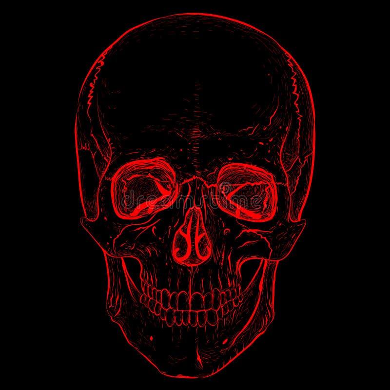 Electro czaszka ilustracja wektor