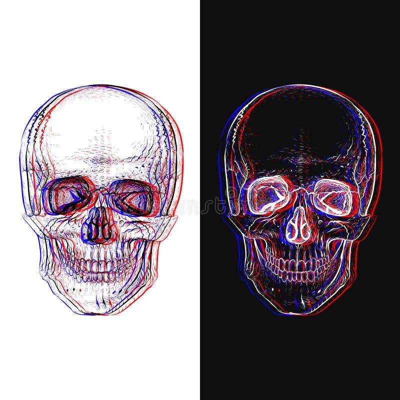 Electro czaszka ilustracji