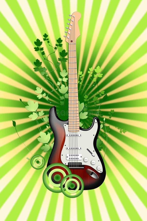 Electro guitarra en un fondo abstracto ilustración del vector