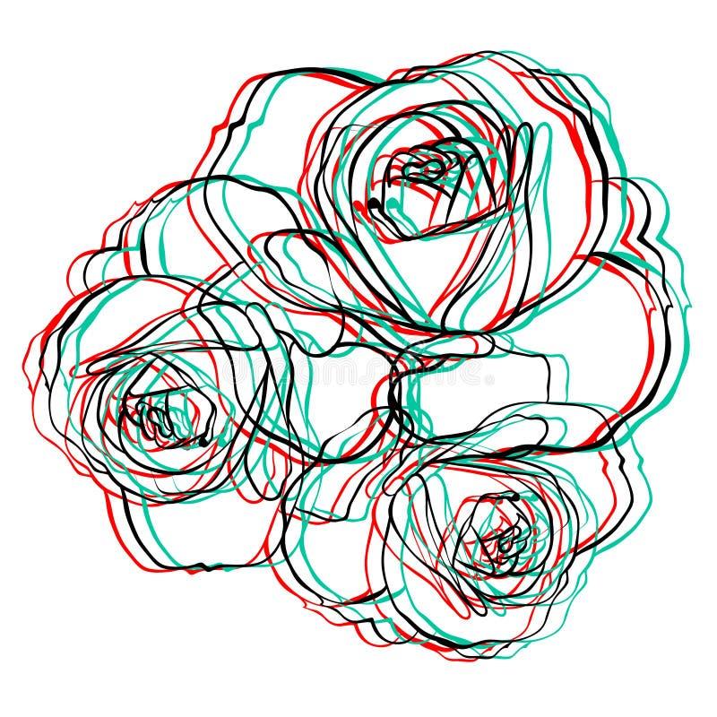 Electro kwiaty royalty ilustracja