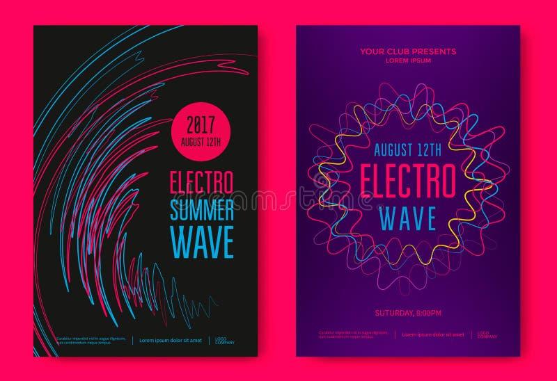 Electro lato fala ilustracji