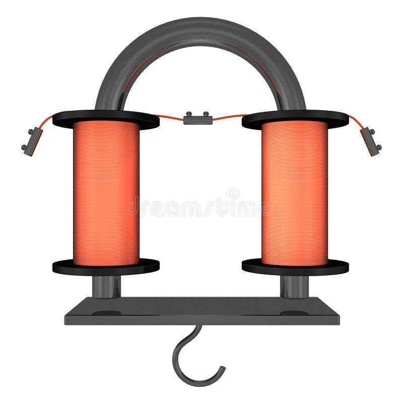 Electro Magnet-U-Shape stock illustration