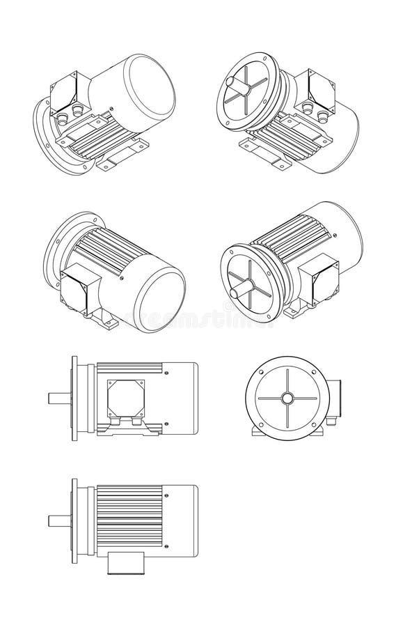 Electro motor ilustración del vector