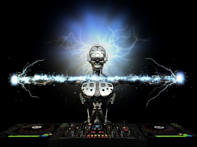 Electro robot DJ royalty ilustracja