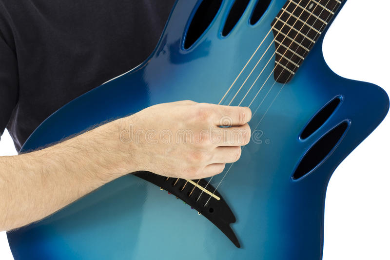 Electroacoustic guitar stock photography