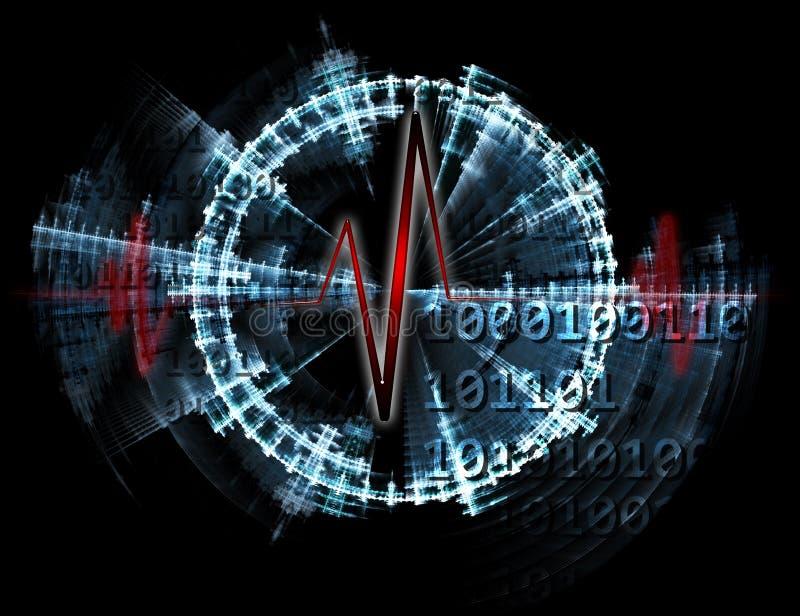 Electrocardiogram royalty free illustration