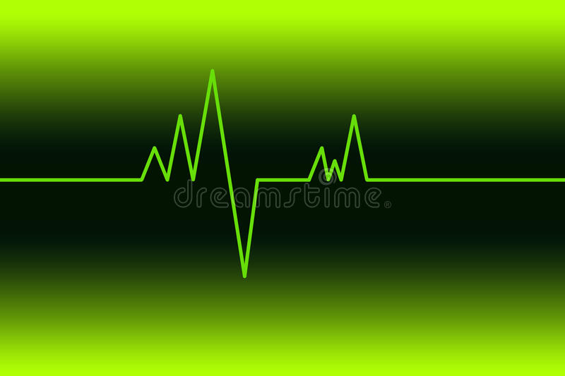 Electrocardiogram royalty free illustration