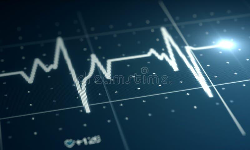 Electrocardiogram royaltyfri illustrationer