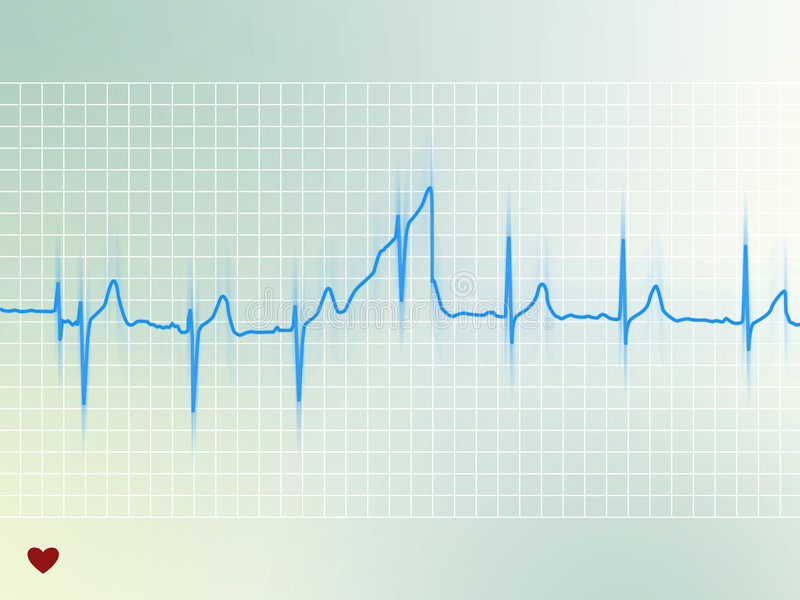 Electrocardiogram stock illustration