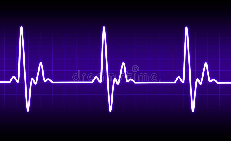 Electrocardiogram heartbeat pulse heart background stock illustration