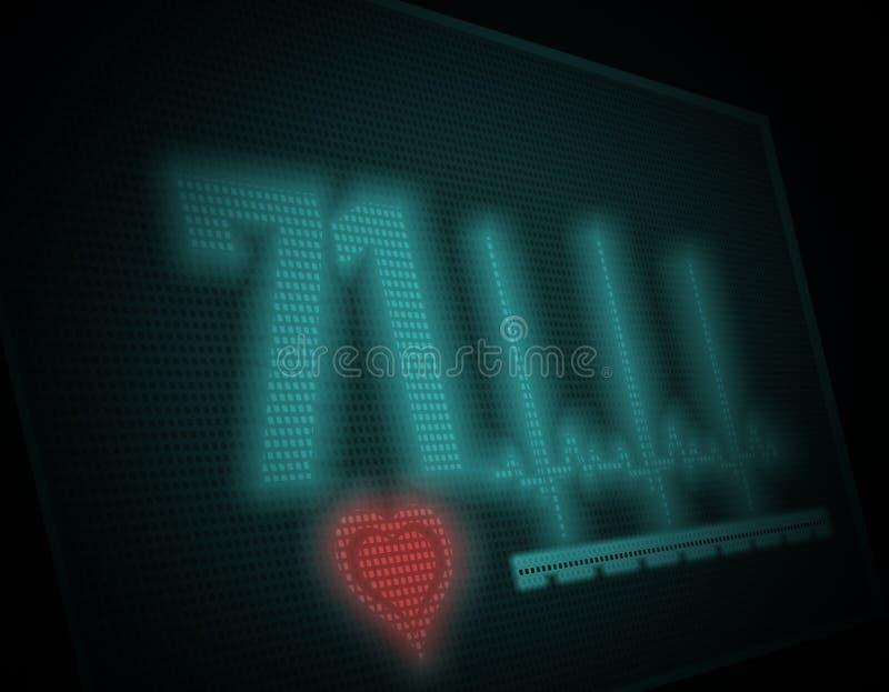 Electrocardiogram on monitor. Illustration vector illustration