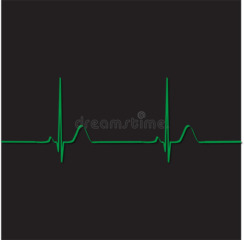 Electrocardiograma ilustração stock