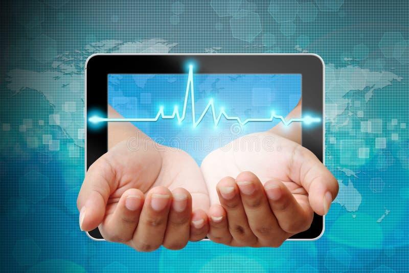 Electrocardiograma na mão imagem de stock royalty free