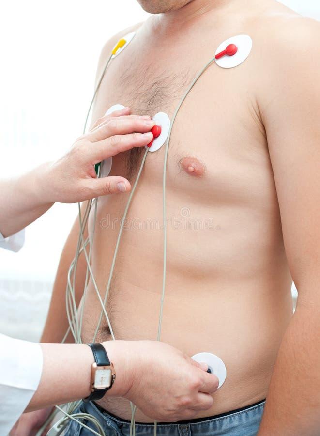Electrocardiogramdanande arkivfoton