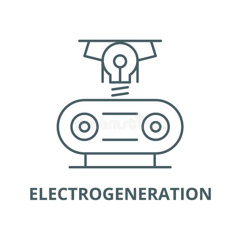 Electrogeneration wektoru linii ikona, liniowy pojęcie, konturu znak, symbol ilustracji